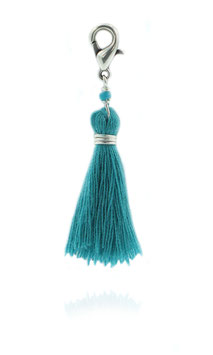 Pompon Turquoise / Argent