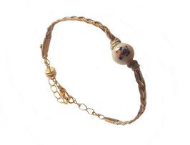 Bracelet Calypso tressé beige