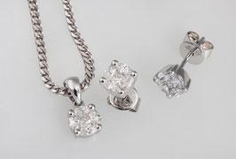 Diamanten Blütenfassung