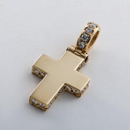 Gelbgold Kreuz mit Brillanten