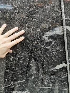 Granit Treppe Cosmic black poliert