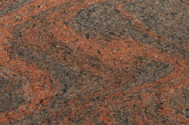 Granit Treppe Rosso Multicolor poliert gewendelt