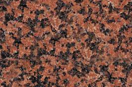 Granit Treppe Rosso Balmoral poliert gewendelt