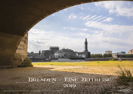 """Kalender 2019 """"DRESDEN - Eine Zeitreise""""                            *Kostenloser Versand Deutschland Lieferzeit: 2-7 Werktage Format: A3 Quer 297mm x 420mm Papier: 250g/m² Druckpapier Glanz"""