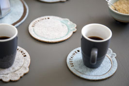 Small coasters - set of 4