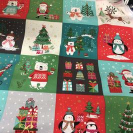 Panel Weihnachts-Bilder bunt