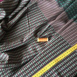 Viskose.Crepe ` , blaugrün-bordeaux, 140 g / lfm, 150 cm breit