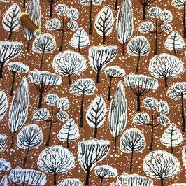 French Terry Bäume , terra-schwarz-weiss