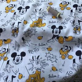 BW -Stoff Micky Mouse Disney