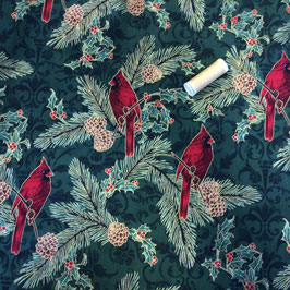PW Roter Kardinal dunkelgrün-rot-gold