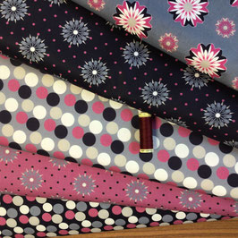 BW-Stoffe lila-pink