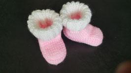 Baby-Finkli 'Stiefelchen' Rosa/Wess (Nr. 3)