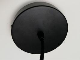 Câble 50cm suspension rosace noir