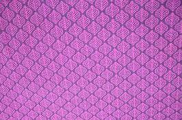 Hapilu Wollstrickstoff Blätter Pflaume/Pink