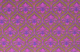 Hapilu Wollstrickstoff Marrakesch Pink/Violett/Oliv