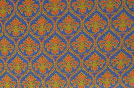 Hapilu Wollstrickstoff Marrakesch Orange/Zimt/Königsblau