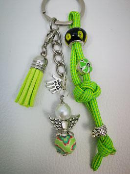 Schlüsselanhänger aus Paracord limone