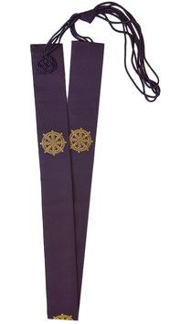 輪袈裟 法輪 濃紫