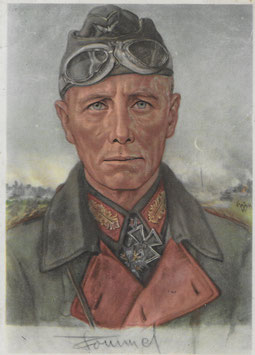 Artikelnummer : 01383 Postkarte Portrait von General Rommel