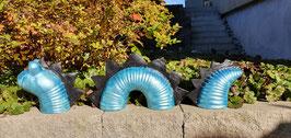 Drachenwurm glitzerblau