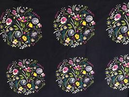 BW Blumenkreise dunkelblau