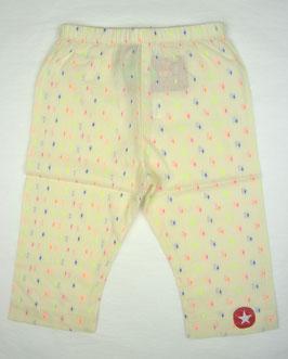 Pantalon écru avec plumetis en coton bio Kik Kid