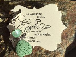 Schutzengel Anhänger mit Lava Perle greeny (19)