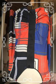 Geblokte dames tuniek met lange mouw van het Merk - Expresso Maat - XL