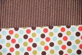 Dots-Stripes / Autumn Brown / Beidseitig / Beidseitig