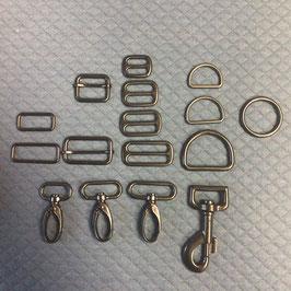 Taschenzubehör Metall schwarz