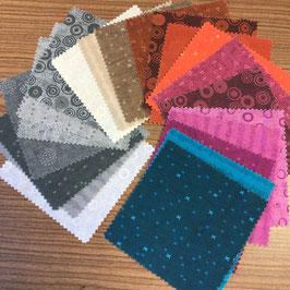 Patchwork Charm Pack gedeckte Farben