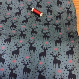 Sweat Hirsche jeans-dunkelblau-rot