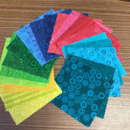 Patchwork Charm Pack bunte Farben