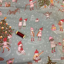 Jersey lillestoff Wichtelweihnacht