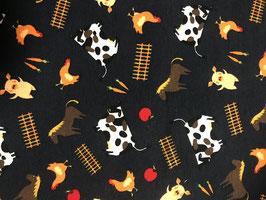 Jersey Bauernhoftiere Kuh, Hühner, Pferd, Schweine