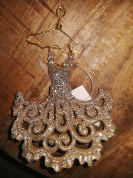 """Anhänger """"Abendkleid mit Bügel"""" von Gisela Graham in Gold"""