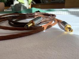 Neu: KECES Premium DC Kabel textilummantelt vergoldete Ganzmetallstecker: