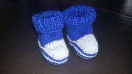 Baby-Finkli 'Stiefelchen' Blau/Hellblau (Nr. 19)