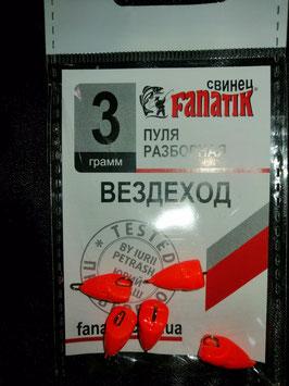 Fanatik Cheburashka Fischkopf orange UV-Aktiv
