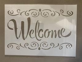 Schablone Welcome