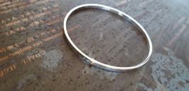 "Bracelet ""jonc"" fermé 3 perforations"
