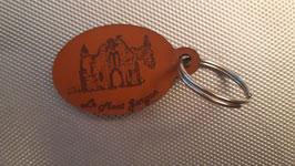 Porte-clef Escòla dau Mont gargan. Visuel La Chapelle Notre Dame de Bon Secours.