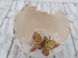keramik Kugel mit Deko