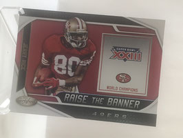 Jerry Rice (49ers) 2019 Certified Raise the Banner #RTB-JR