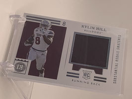 Kylin Hill (Mississippi State/ Packers) 2021 Chronicles Draft Encased Substatial Rookie Swatches #ERS-KH