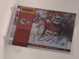Derrick Johnson (Chiefs) 2013 Rookies & Stars Materials Autograph #12