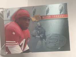 Deion Sanders (49ers) 1995 Fleer Metal Platinum Portraits #9