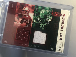 Jeff Garcia/ Ahman Green (49ers/ Packers) 2002 Hot Prospects Hot Tandems Double Jersey Red #JG-AG