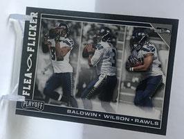 Baldwin/ Wilson/ Rawls (Seahawks) 2017 Playoff Flea Flicker #17