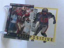 Jerry Rice/ Keyshawn Johnson (49ers/ Jets)  2000 Topps Gallery Proof Positive #P3